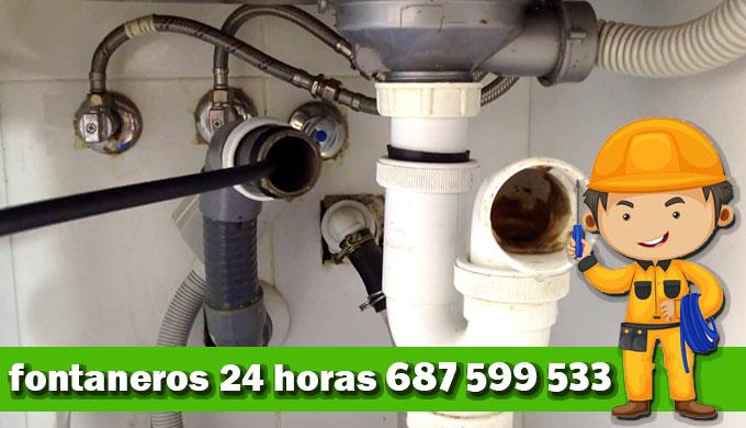 desatascar tuberias en Pinto